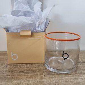 Recycled Glass Vase Wide Orange Bribe Rimi